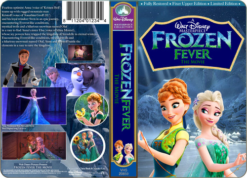 Disney achtergrond with anime titled A Walt Disney Masterpiece Frozen Fever The Movie (1998) VHS