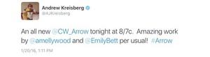 Andrew Kreisberg's Stemily tweet