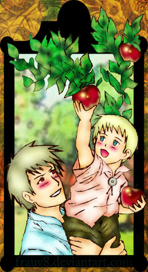 Aph Helping Hand. Gilbert and little Ludwig. Ludwig when he was a child. Ludwig isn't HRE