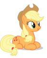 Applejack Laying Down - my-little-pony-friendship-is-magic photo