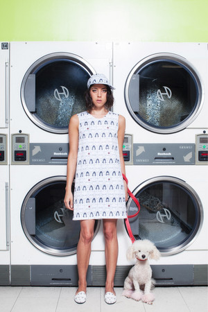 Aubrey Plaza model Rachel Antonoff's Spring 2014 Ready-to-Wear Collection