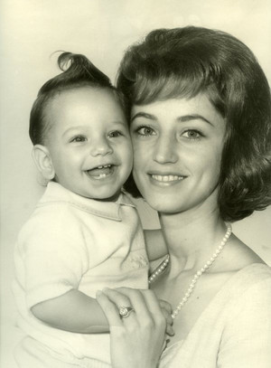 Baby John Stamos and his mother