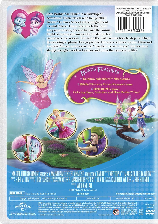 búp bê barbie Fairytopia: Magic of The cầu vồng 2016 DVD with New Artwork