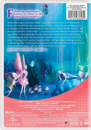 바비 인형 Fairytopia: Mermaidia 2016 DVD with New Artwork
