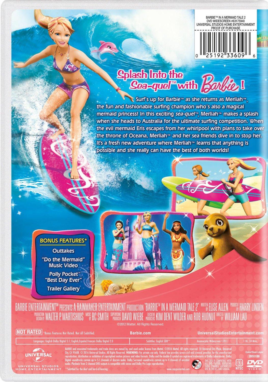 芭比娃娃 in A Mermaid Tale 2 2016 DVD with New Artwork