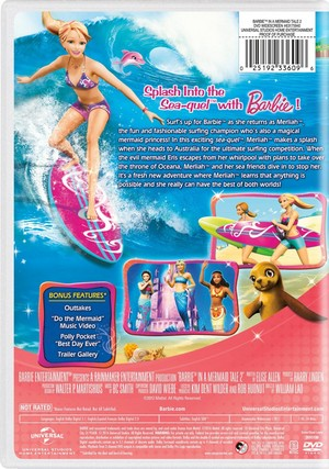Barbie in A Mermaid Tale 2 2016 DVD with New Artwork
