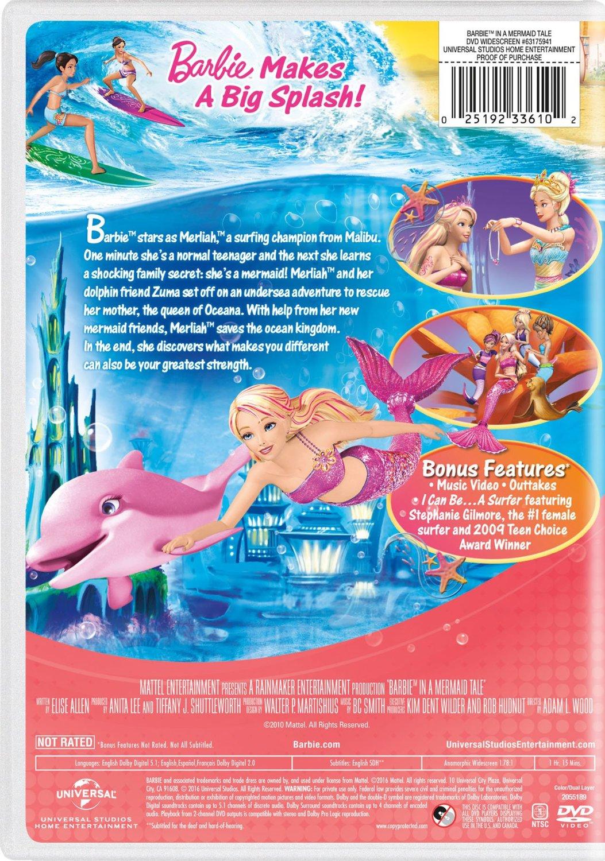 búp bê barbie in A Mermaid Tale 2016 DVD with New Artwork