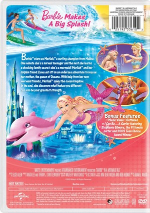 バービー in A Mermaid Tale 2016 DVD with New Artwork