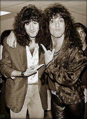 Bruce Kulick and Paul Stanley…September 25, 1985 (NYC-David Brenner radio show)