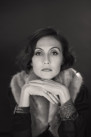 Carice 봉고차, 반 Houten - Greta Garbo Biopic photoshoot