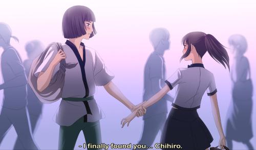 masigla ang layo wolpeyper entitled Chihiro & Haku