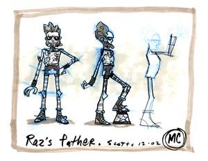 Concept Art: Raz's Father