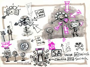 Concept Art: Sasha's Shooting Gallery