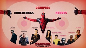 Deadpool Infographic: Douchebags vs heroes