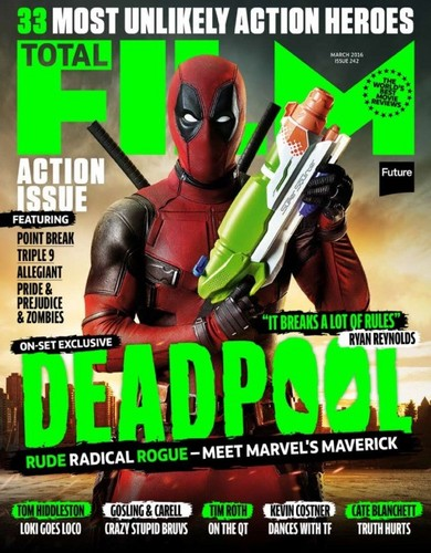 Deadpool (2016) fondo de pantalla containing anime titled Deadpool on the Cover of Total Film Magazine