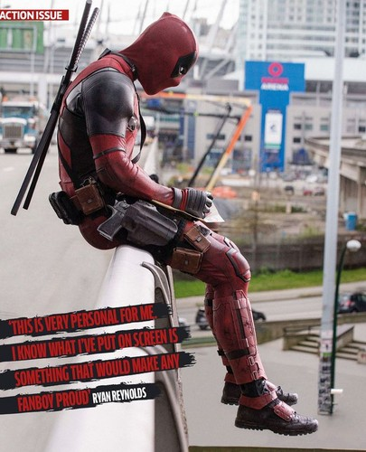 Deadpool (2016) fondo de pantalla probably with a breastplate, a lippizan, and a hip boot called Descriptive Narrative - Total Film Magazine