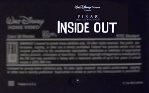 Disney•Pixar's Inside Out (2003) VHS Black