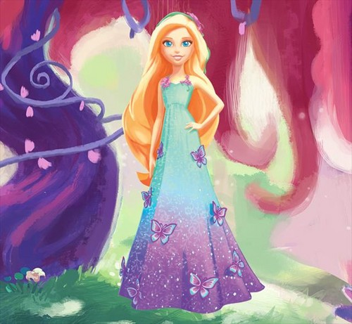 Barbie فلمیں پیپر وال entitled Dreamtopia - Barbie (Forest Princess)