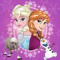 Elsa, Anna, Olaf and Sven