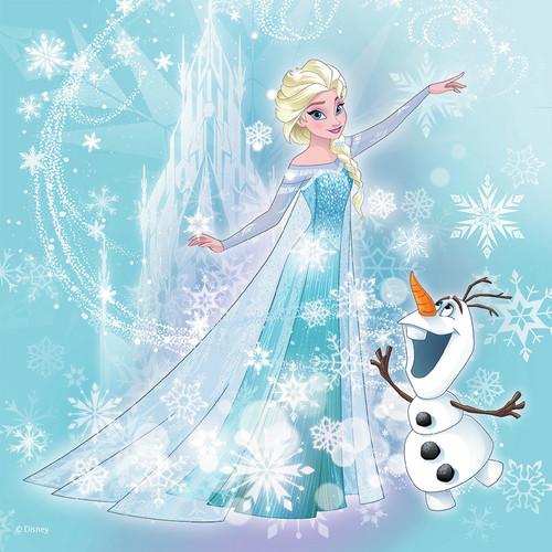 ফ্রোজেন দেওয়ালপত্র called Elsa and Olaf