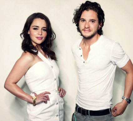 Emilia Clarke fond d'écran probably containing a well dressed person and a portrait entitled Emilia and Kit