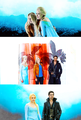 Emma, Elsa and Hook - once-upon-a-time fan art