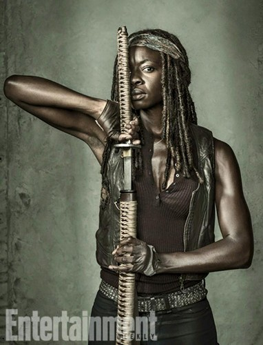 The Walking Dead kertas dinding titled Entertainment Weekly Portraits ~ Michonne