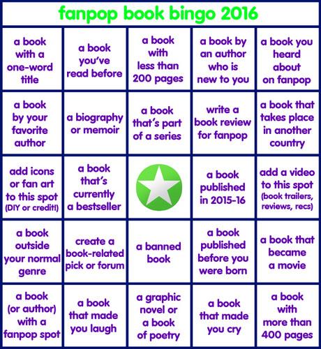 Bücher zum Lesen Hintergrund titled Fanpop Book Bingo 2016