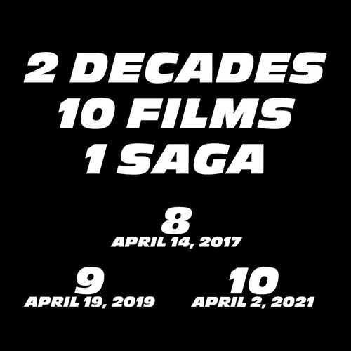 fast and furious wallpaper titled Fast and Furious Announcement: 2 Decades, 10 Films, 1 Saga