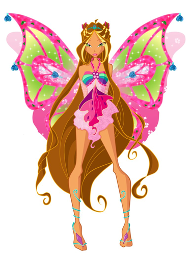 o clube das winx wallpaper possibly with a bouquet entitled Flora Enchantix