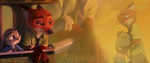 Judy Hopps Hintergrund possibly containing a sign called Friendship Von lil humphrey