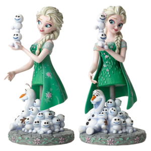 《冰雪奇缘》 Fever - Elsa and Olaf Grand Jester Mini-Bust