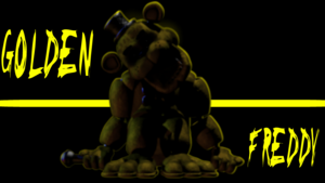 Golden freddy kertas dinding
