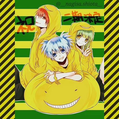Ansatsu Kyoushitsu پیپر وال with عملی حکمت called Happy Trio*