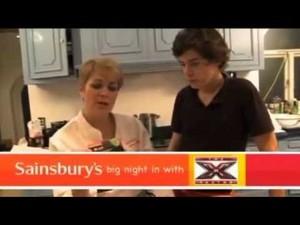 Harry in X Factor cuisine