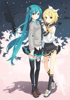 Hatsune Miku and Kagamine Rin
