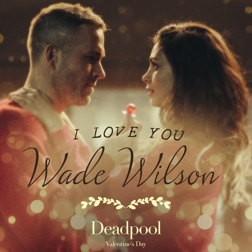 Deadpool (2016) fondo de pantalla probably with a concert, a sign, and a portrait entitled I amor You, Wade Wilson Promo Still
