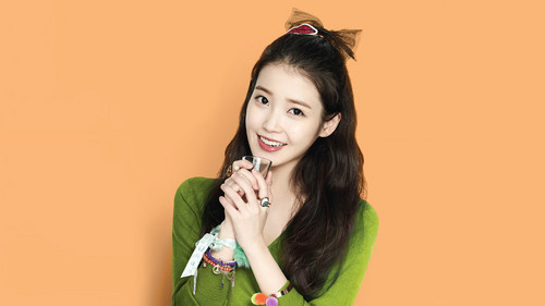 IU wallpaper possibly with a portrait called IU Wallpaper for Chamisul [Edited by IUmushimushi]