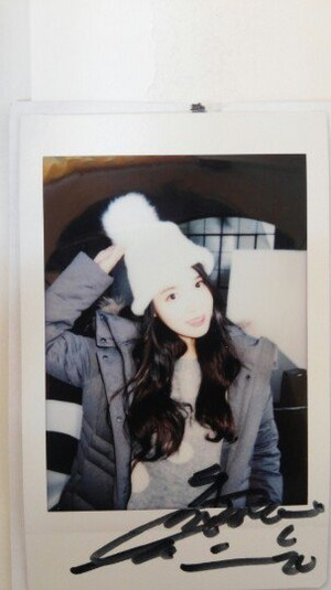 IU for UNIONBAY on Polaroid picture