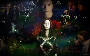Jace/Clary karatasi la kupamba ukuta