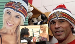 Jagr and his girl same gorra, cap