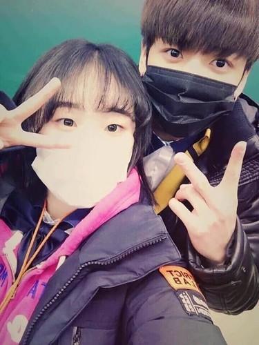 Jungkook (BTS) karatasi la kupamba ukuta entitled Jungkook at Highschool