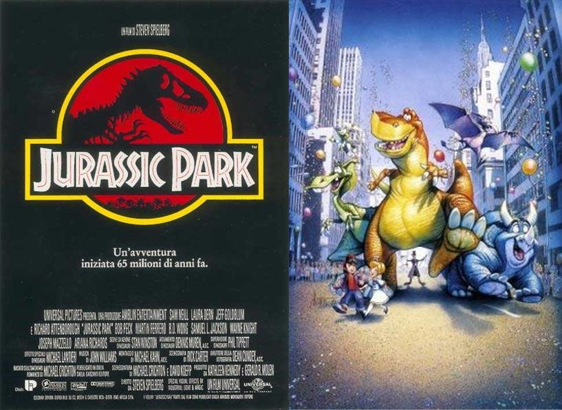 Jurassic park e we re back dinosauri a new york dinosauri