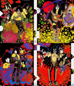 キッス solo album posters 1978