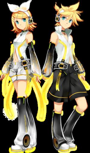 Kagamine Len and Kagamine Rin Append