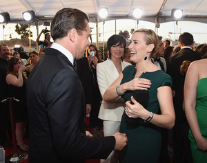 Kate Winslet and Leonardo DiCaprio SAG Awards 2016