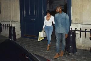 Kayne West and Kim Kardashian West