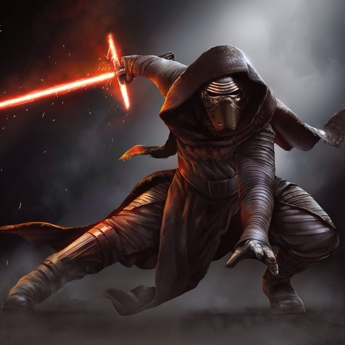 étoile, étoile, star Wars fond d'écran with a breastplate entitled Kylo Ren