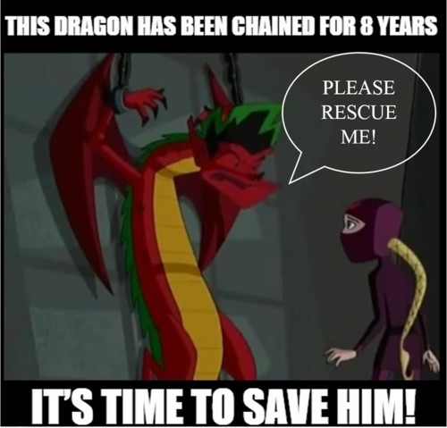 American Dragon: Jake Long achtergrond with anime called LET'S SAVE HIM (2016 campaign)