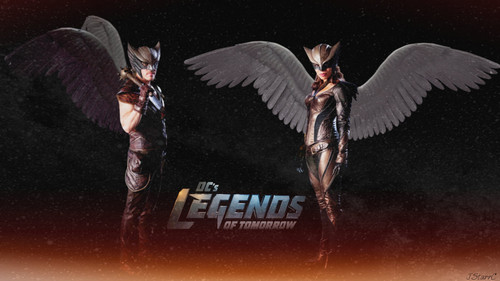 DC's Legends of Tomorrow fondo de pantalla with anime called Legends of Tomorrow: Khufu ~Hawkman / Chay-Ara ~Hawkgirl